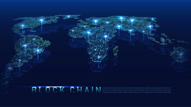 Blockchain-technologie mit globalem anschlusskonzept