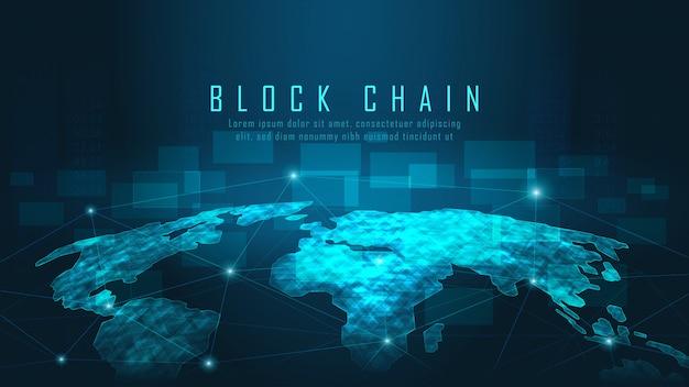 Blockchain-technologie mit globaler verbindung