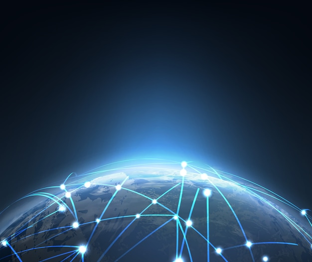 Blockchain-technologiekonzept block-chain-datenbankdaten-kryptowährungsgeschäft