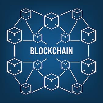 Blockchain-technologiekonzept