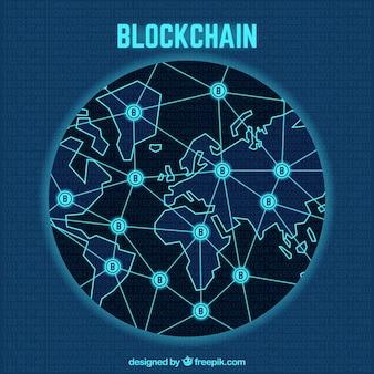 Blockchain-weltkonzept