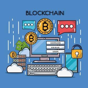 Blockchain würfel digitale sicherheitstechnologie