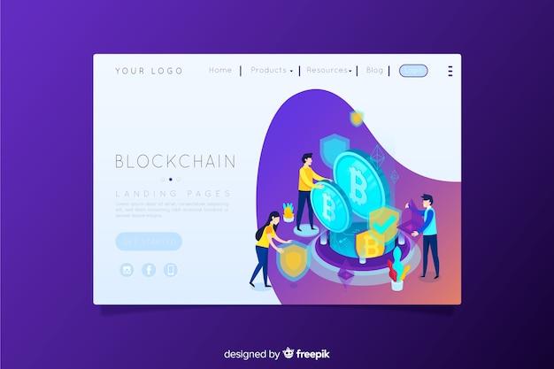 Blockchain-zielseite