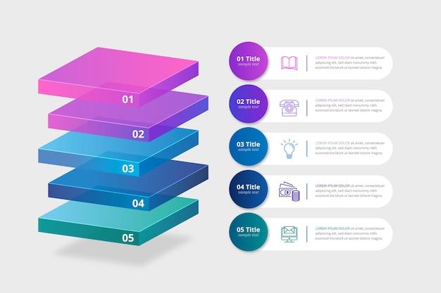 Blockebenen infografik