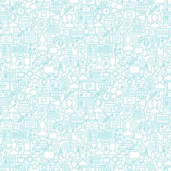 Blog-weiße linie nahtlose muster. vektor-illustration des kachelbaren hintergrundes.