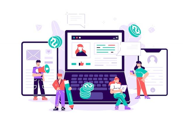 Bloggen, bildung, kreatives schreiben, content management für webseiten
