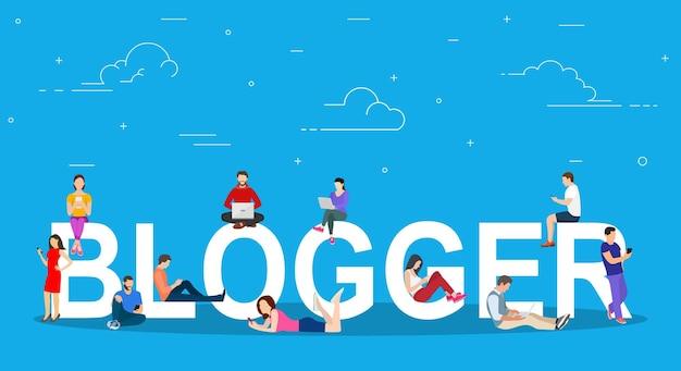 Bloggen, blogger. freiberuflich.