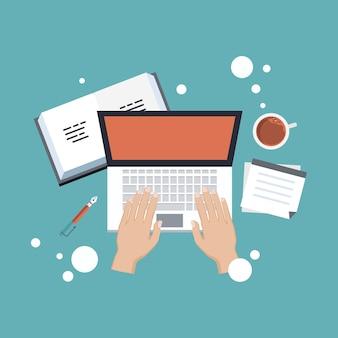 Bloggen und online-schreiben