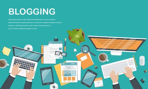 Bloggen und schreiben sie ihre story-vorlage