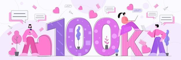 Blogger, die 100.000 likes erhalten oder follower, die networking betreiben