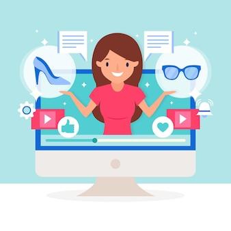 Blogger-rezension zum internet-konzept