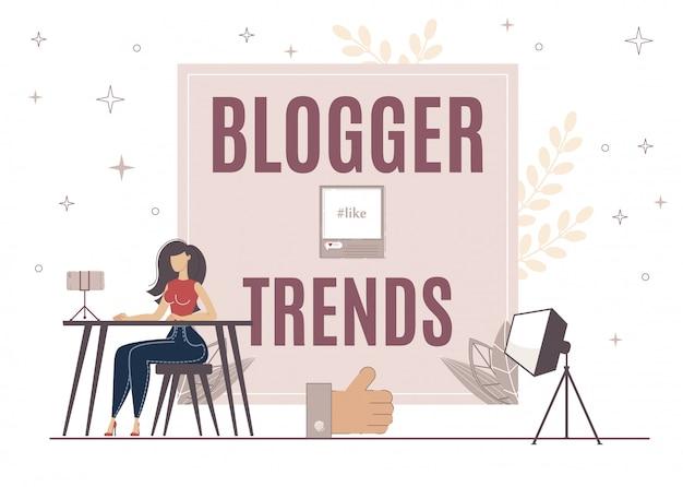Blogger-trends zur steigerung wie auf video, post.