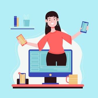 Blogger-überprüfungskonzept
