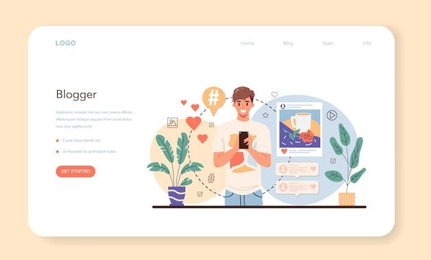 Blogger-webbanner oder zielseite