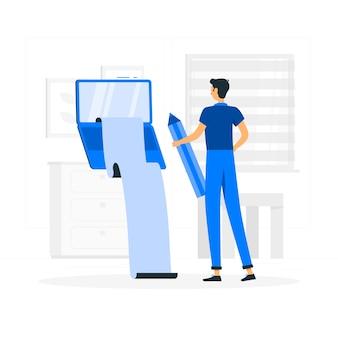 Blogging illustrationskonzept