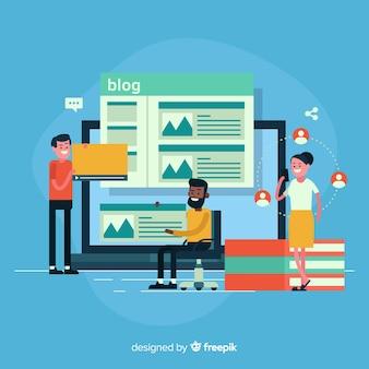 Blogging-konzept
