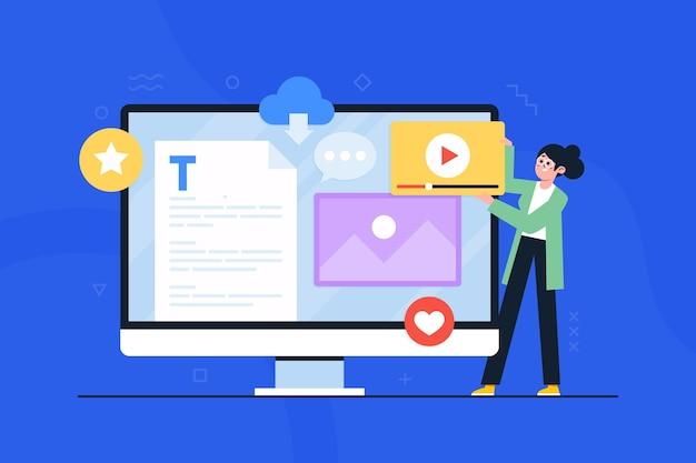Blogging social media konzept