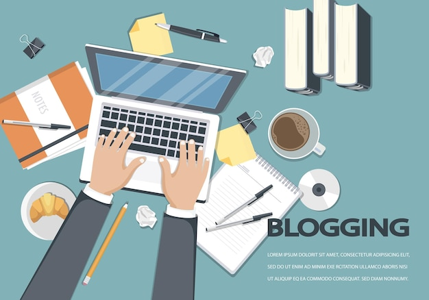 Blogging und journalismus illustration