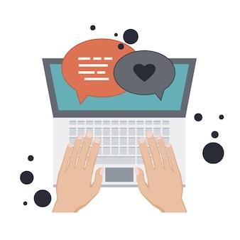 Blogging- und journalismuskonzept