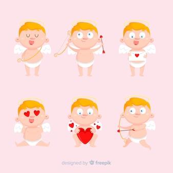 Blonde valentinsgrußamorsammlung