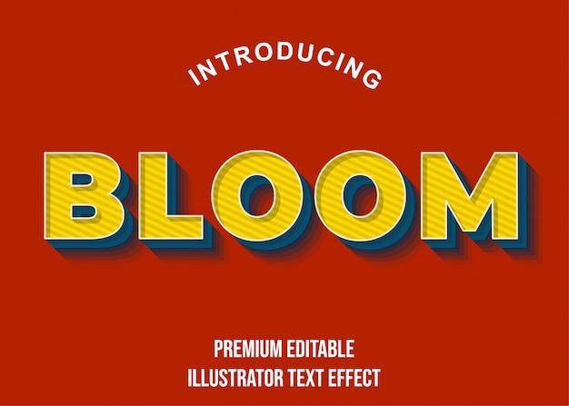 Bloom - gelbe texteffektvorlage