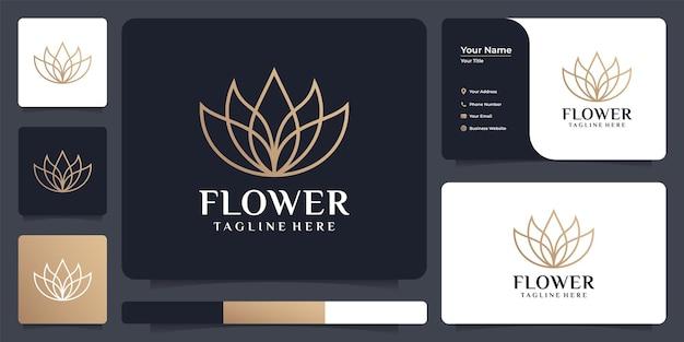 Bloom lotusblumen-logo-design für hotel- und resort-spa