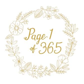 Blossom kranz neujahr typografie illustration