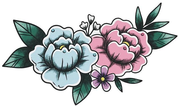 Blossom neo traditionelle alte schule