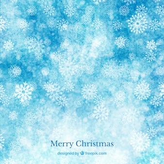 Blue aquarell weihnachten hintergrund