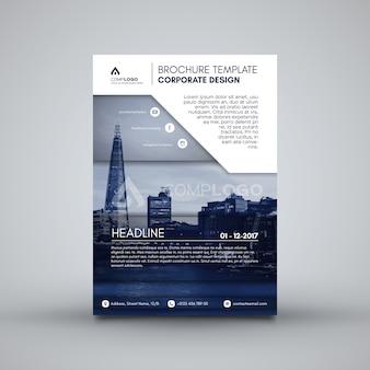 Blue corporate broschüre vorlage
