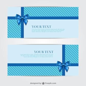 Blue geschenk-banner für