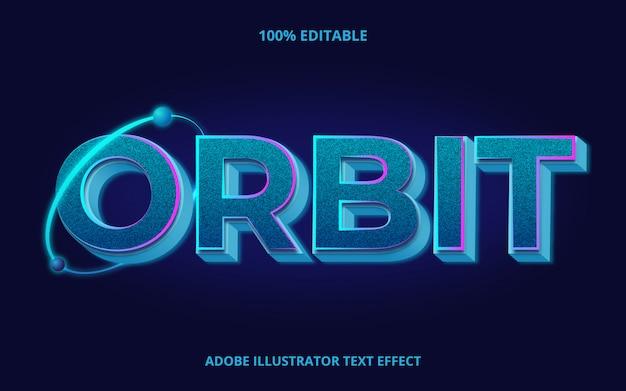 Blue orbit text, bearbeitbarer schrifteffekt