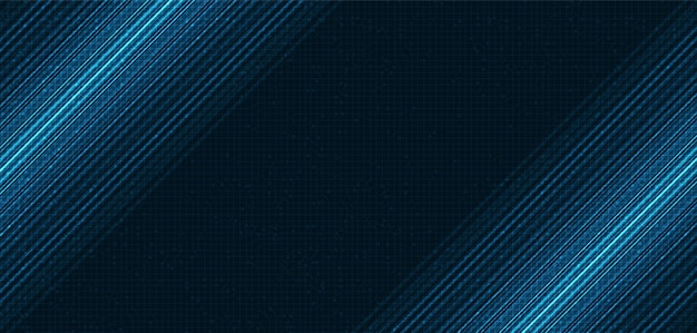 Blue speed light technology hintergrund, digital- und verbindungskonzeptdesign, vektorillustration.