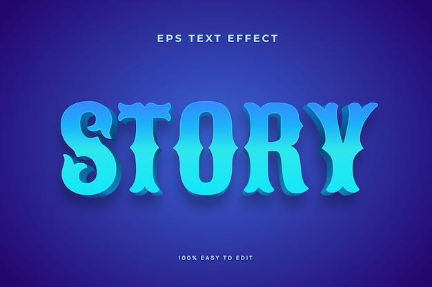 Blue story-texteffekte