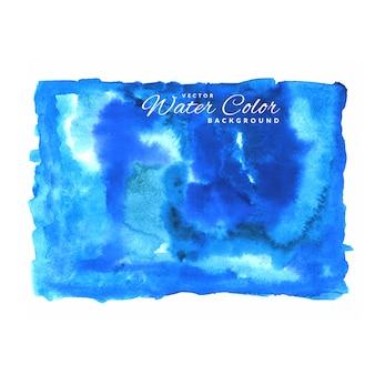 Blue vektor wasser farbe hintergrund