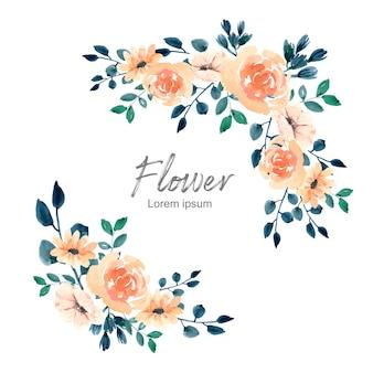 Blühende dekoration mit blumen blumenstrauß
