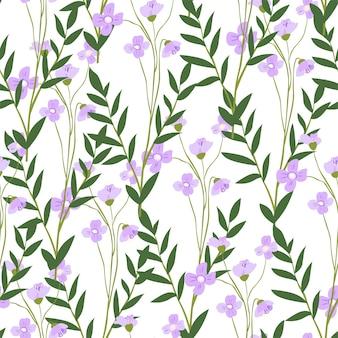 Blühende matthiola-blume mit blättern und blütenblättern