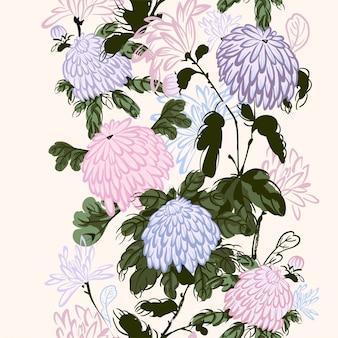 Blühende rosa chrysantheme im chinesischen stil