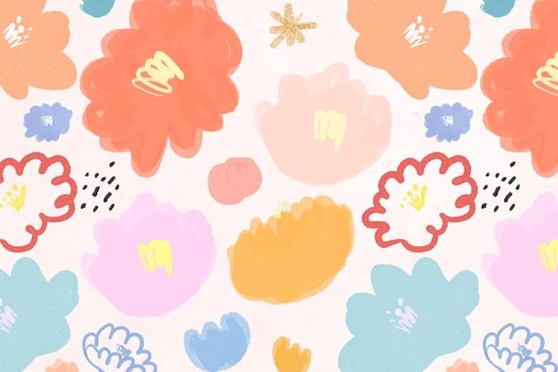 Blühender blumenhintergrund blumenillustration