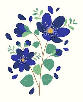 Blühender frühlingsblumenstrauß