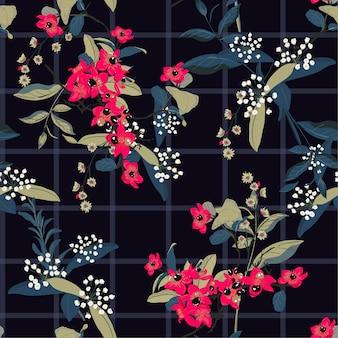 Blühender garten blüht auf fensterkontrolle