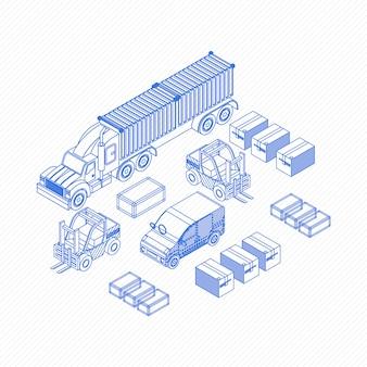 Blueprint icons für liefergegenstände