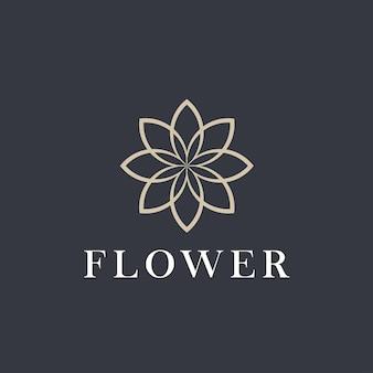 Blüte. grafisches bild von blumen für logodesign.