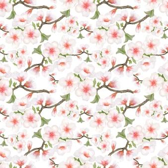 Blüte mandel nahtlose muster