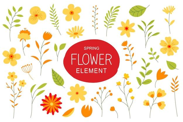 Blüten und blätter im frühjahr