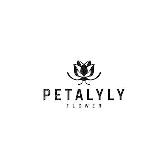 Blütenförmiges logo-design