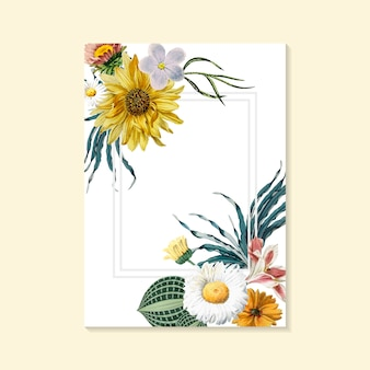 Blühende Grußkarte