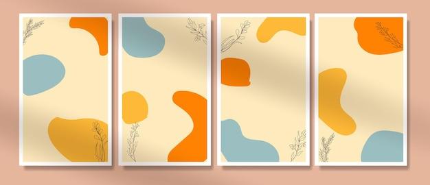 Blume boho poster cover eine strichzeichnung