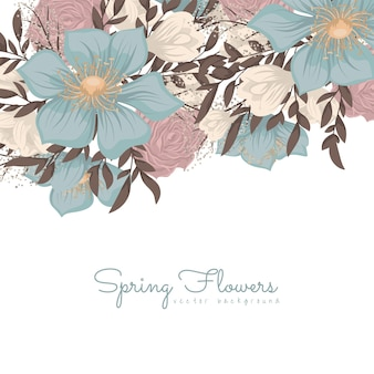 Blume entwirft grenze - blaue blumen