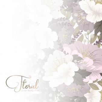 Blume entwirft grenze - rosa blumen
